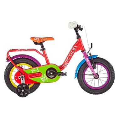"""Vélo Enfant S'COOL NIXE CHALK Acier 12"""" Rouge 2020"""